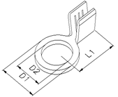 HS United European Connectors - Ring cable lug 20.805.120.032